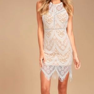 White Lace Bodycon Dress  Never Been Worn! Size L